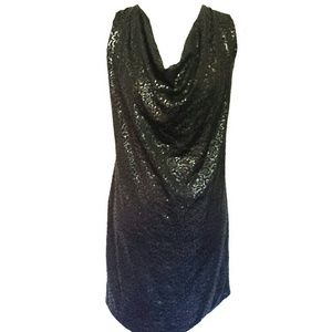 Sequin Backless Cowl Neck Dress Rachel Rachel Roy